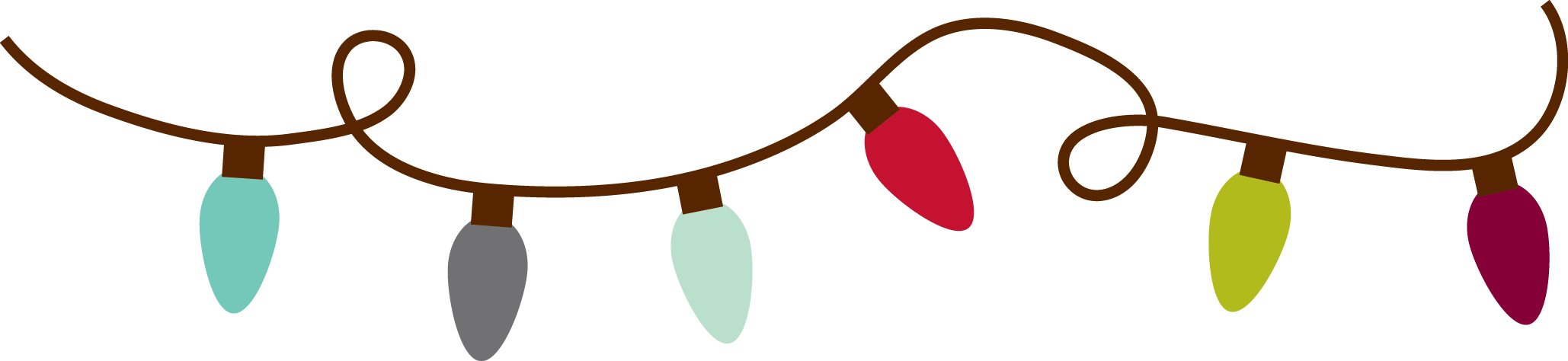 Party png. Christmas lights border transparent