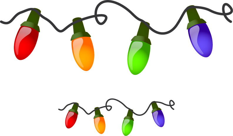 Christmas lights png file. Free images download icons