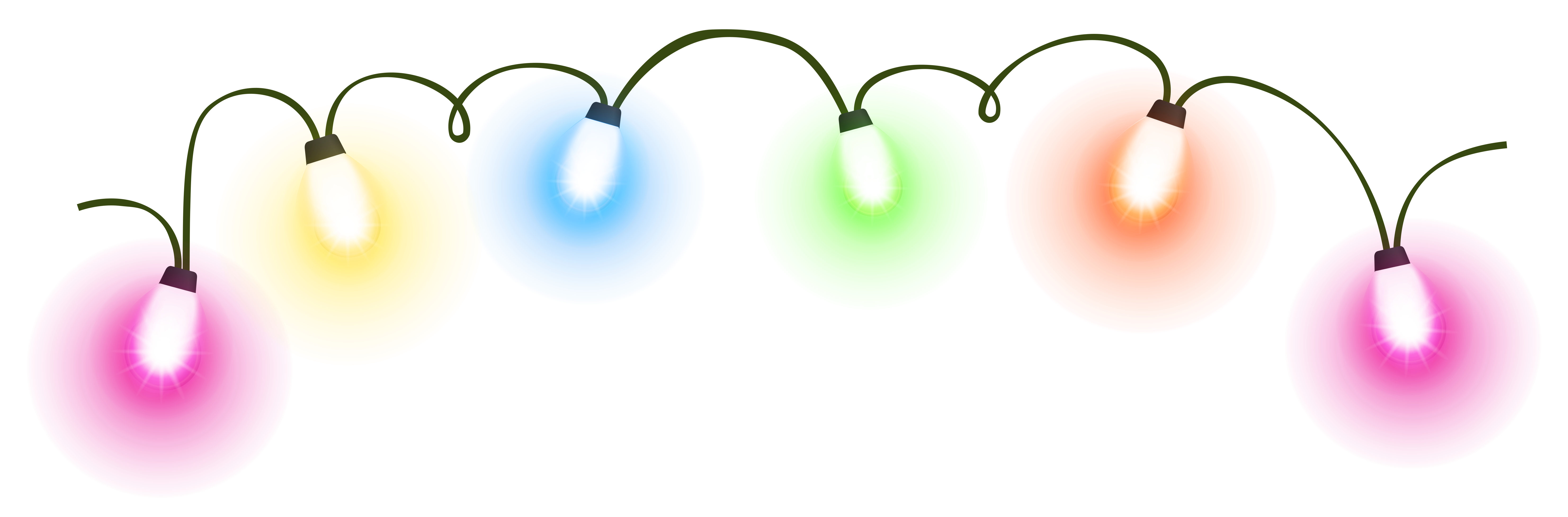 Christmas lights .png. Transparent png clipart pictures