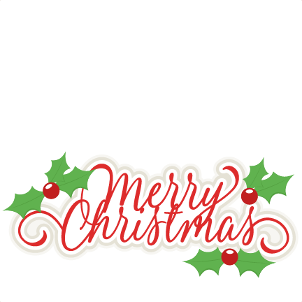 And svg merry christmas. Title scrapbook cut file