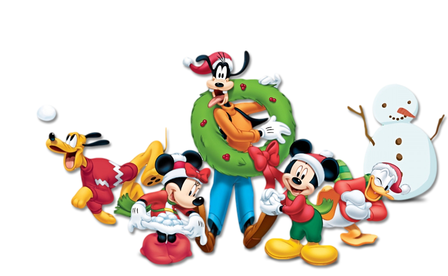 Christmas mickey png. Mouse minnie goofy pluto