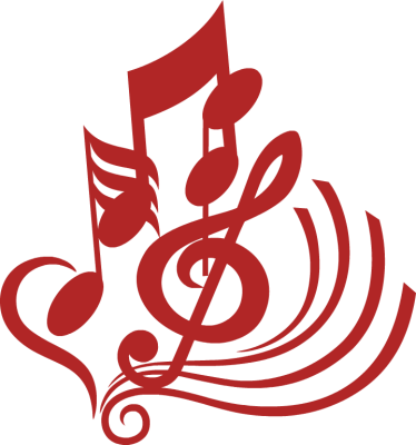 music note clipart red