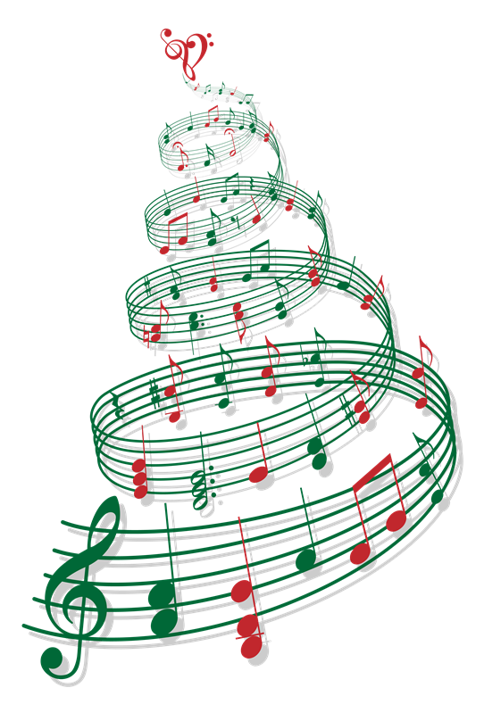 Music note png christmas