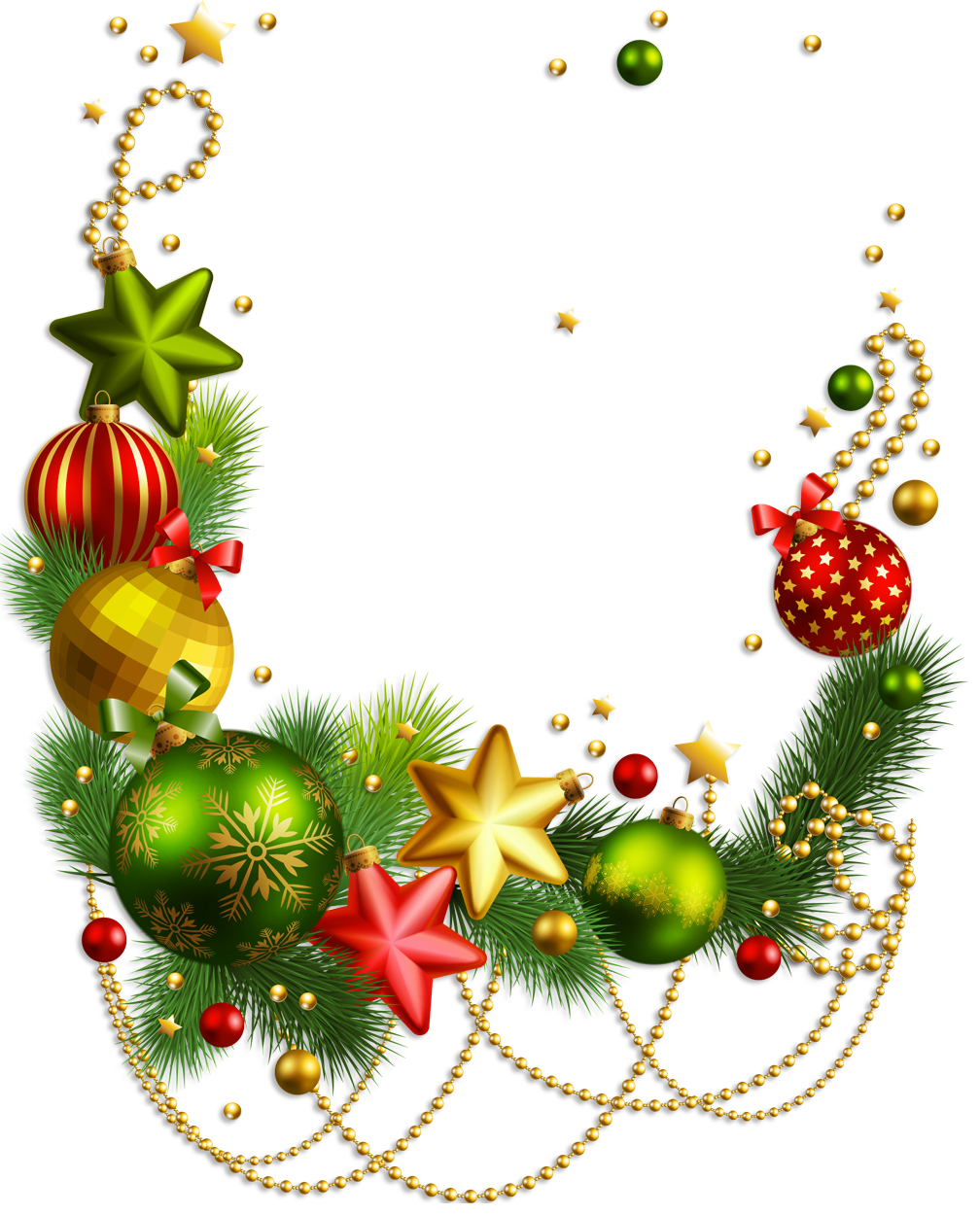 Christmas ornament border png. Collection of ornaments