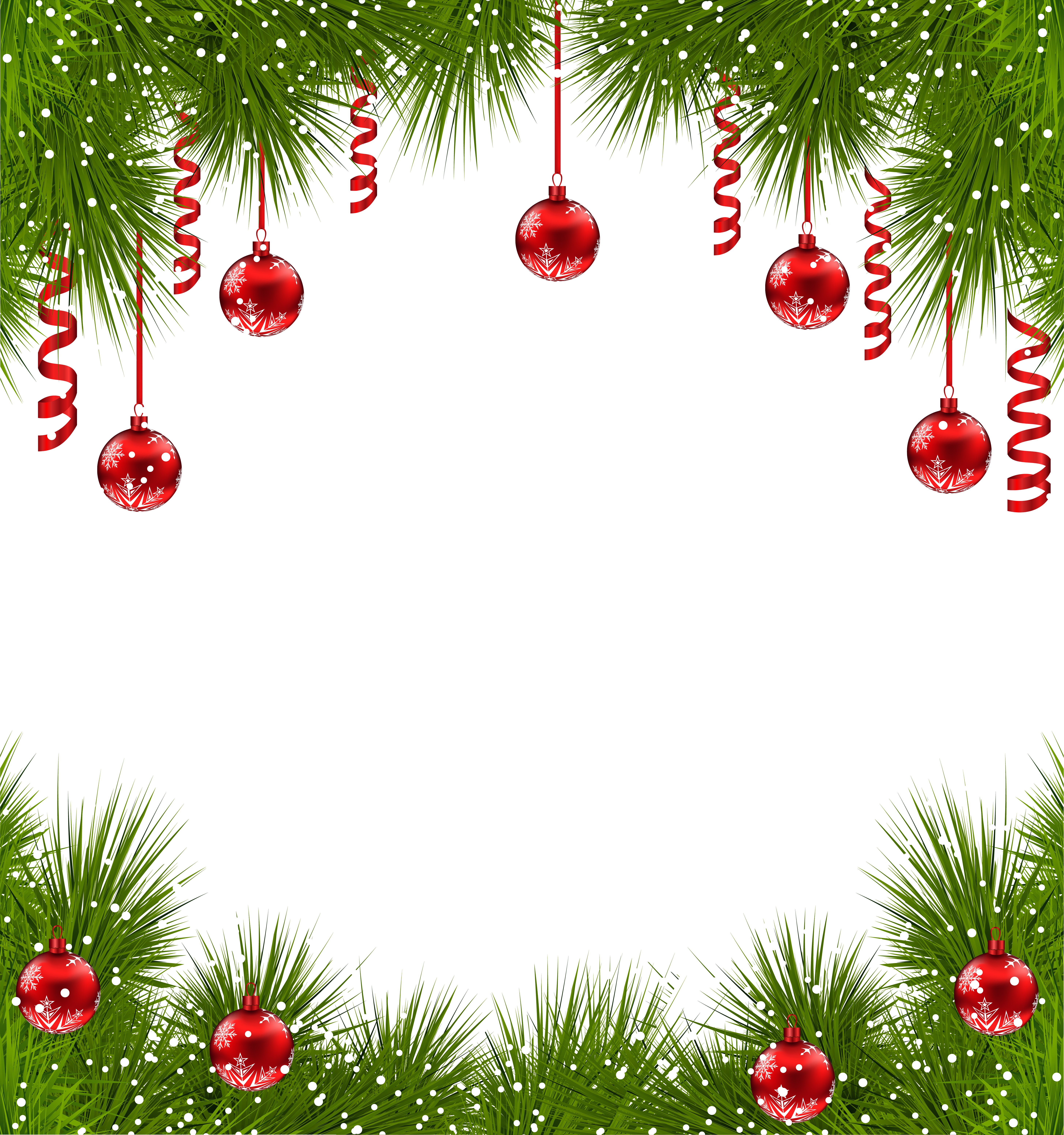 Christmas ornament border png. Transparent frame with red