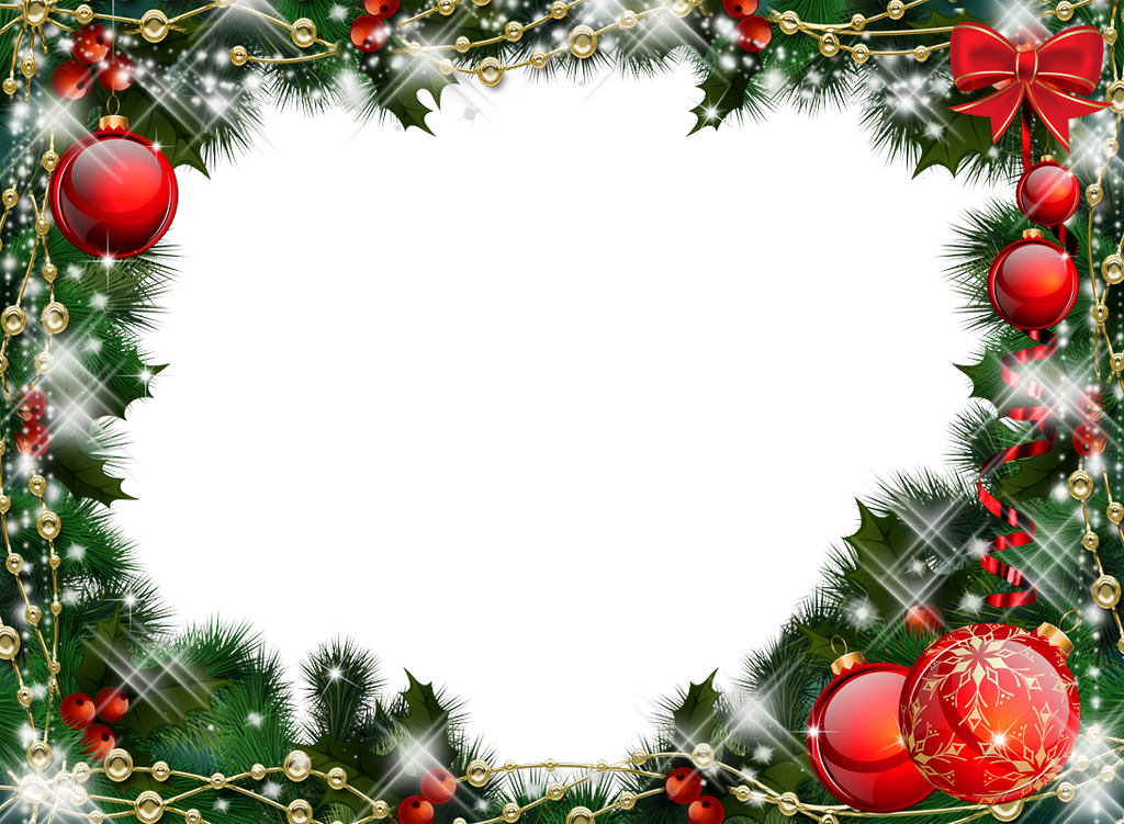 Christmas photo frame png. Green transparent with r