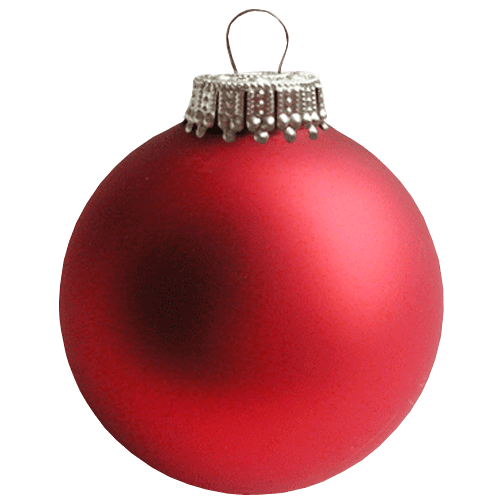 Red christmas ornament png. Bauble transparent background image
