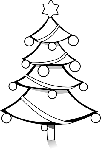Black And White Christmas Tree Drawing at GetDrawings