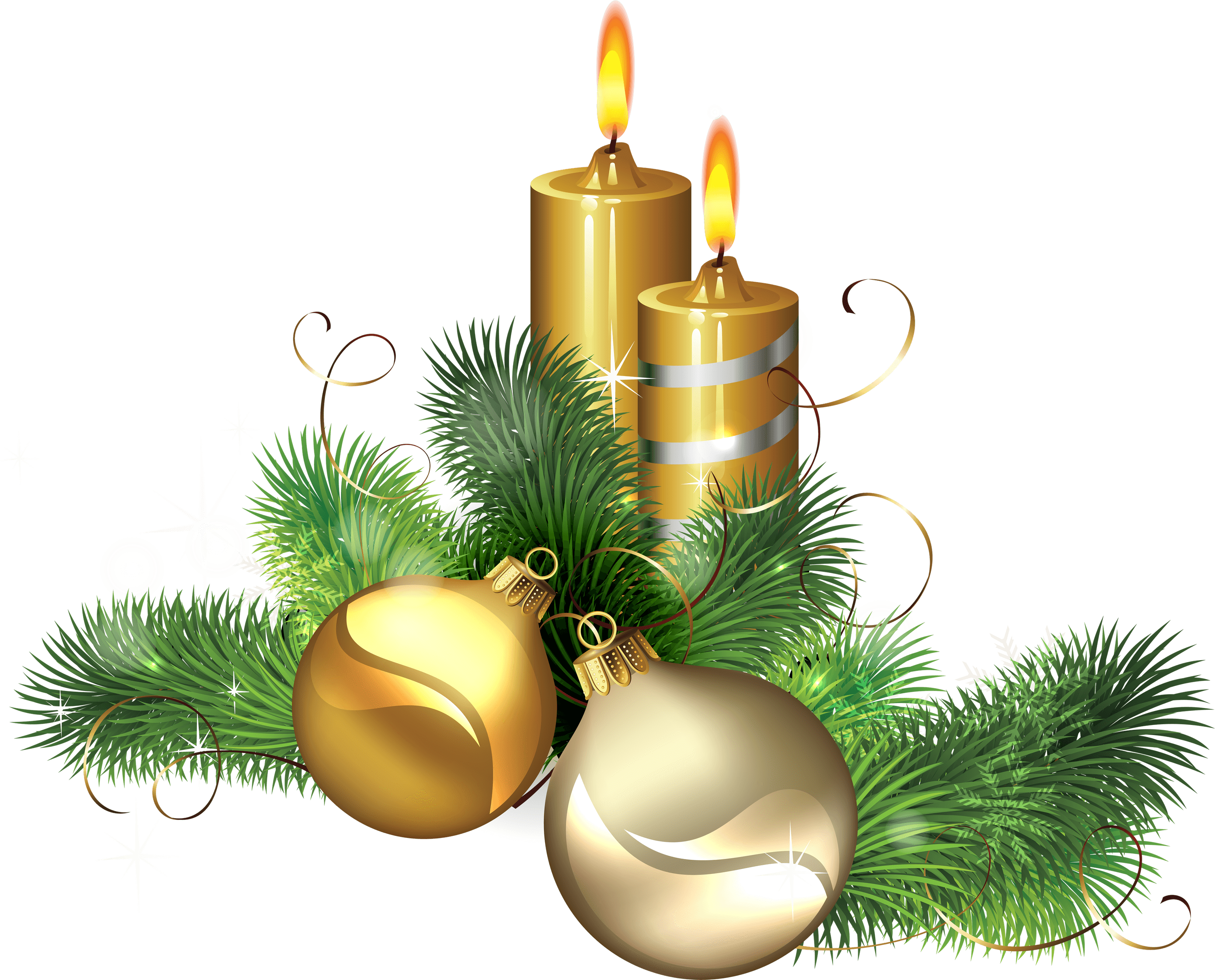 Christmas ornaments clear background images png candles. Candle gold transparent stickpng