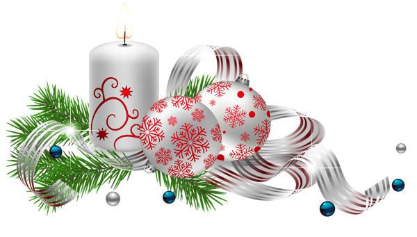 Silver christmas candles png. Transparent decoration with picture