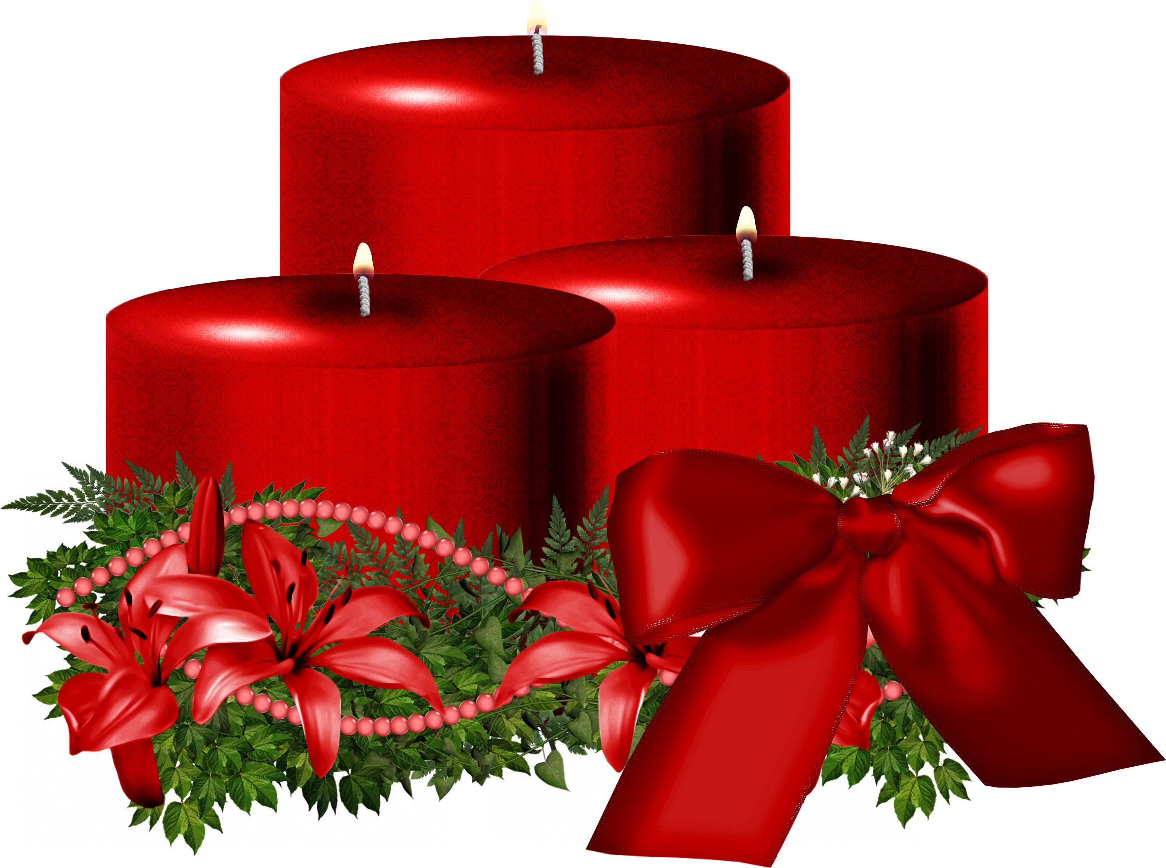 Christmas ornaments clear background images png candles. Red candle image purepng