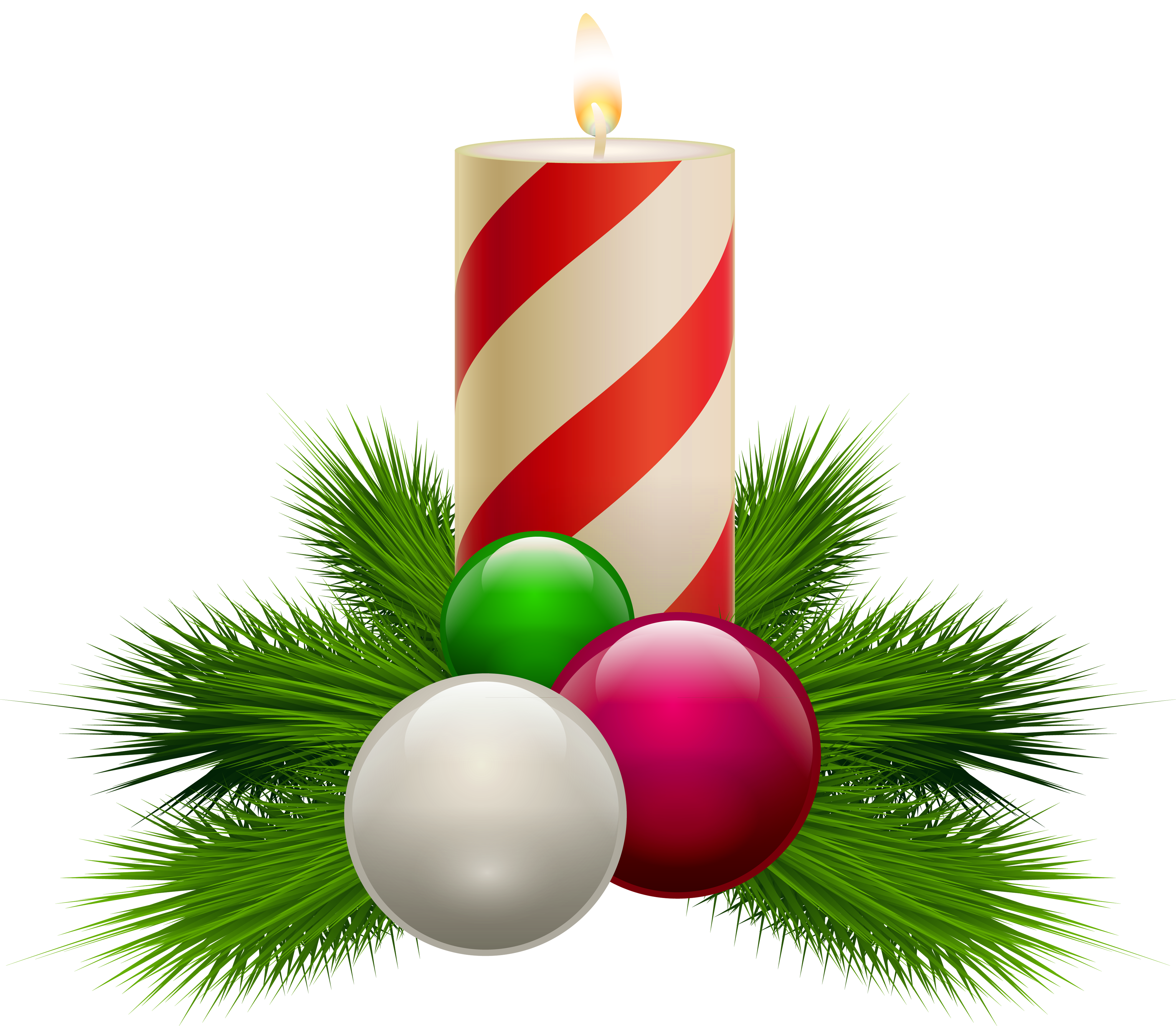 Christmas ornaments clear background images png candles. Transparent white candle clipart