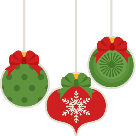 Christmas ornaments clip art png. Decorations silhouette at getdrawings