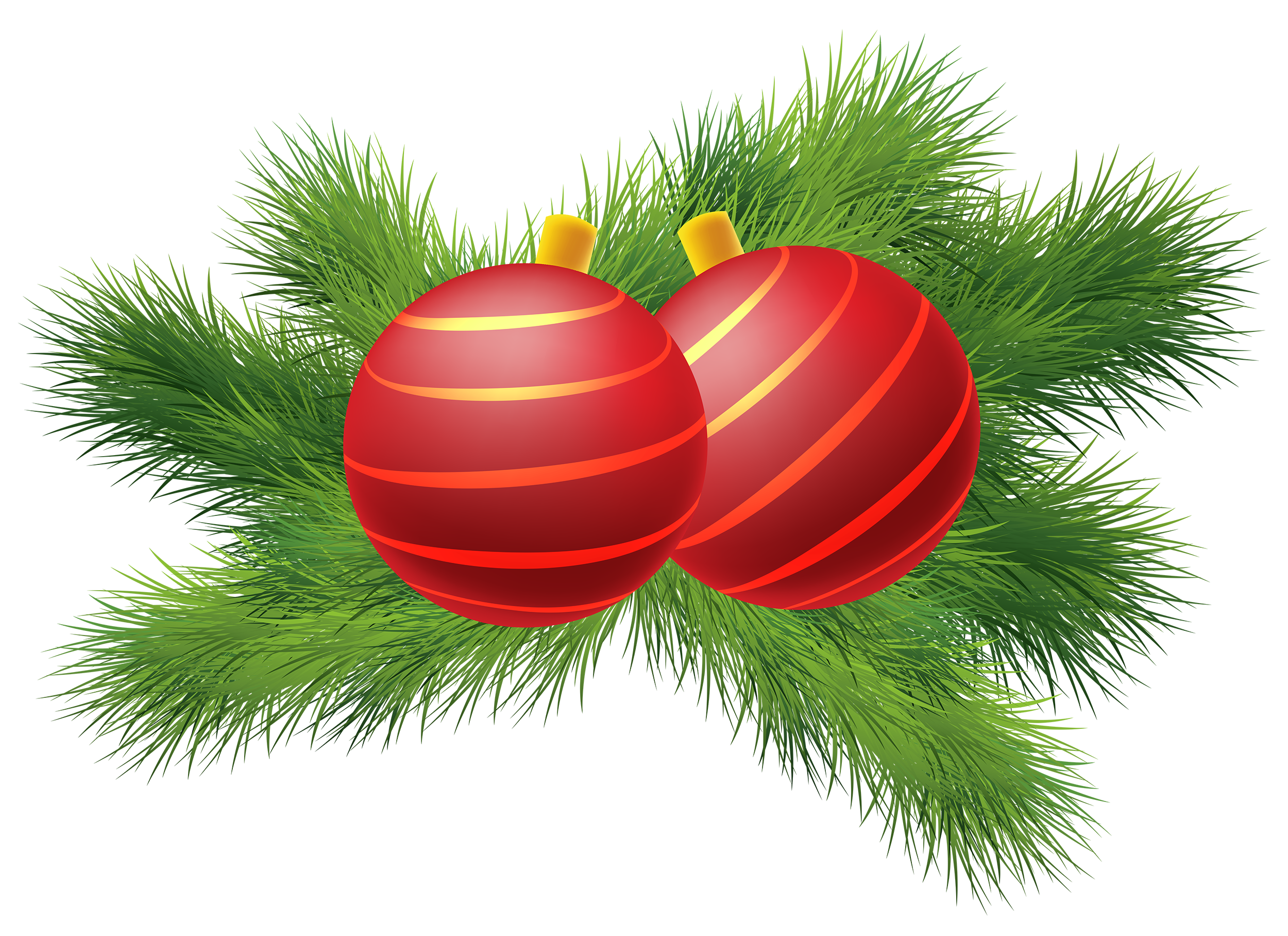 Christian vector christmas png. Decor with red balls
