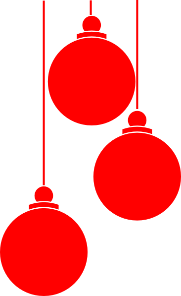 red ornaments png