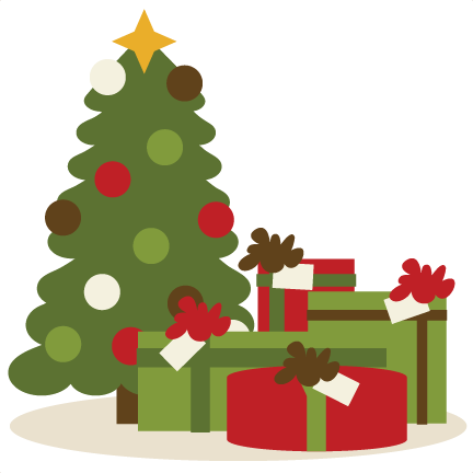 Bare Christmas Tree Svg.Christmas Tree And Presents Transparent Png Clipart Free