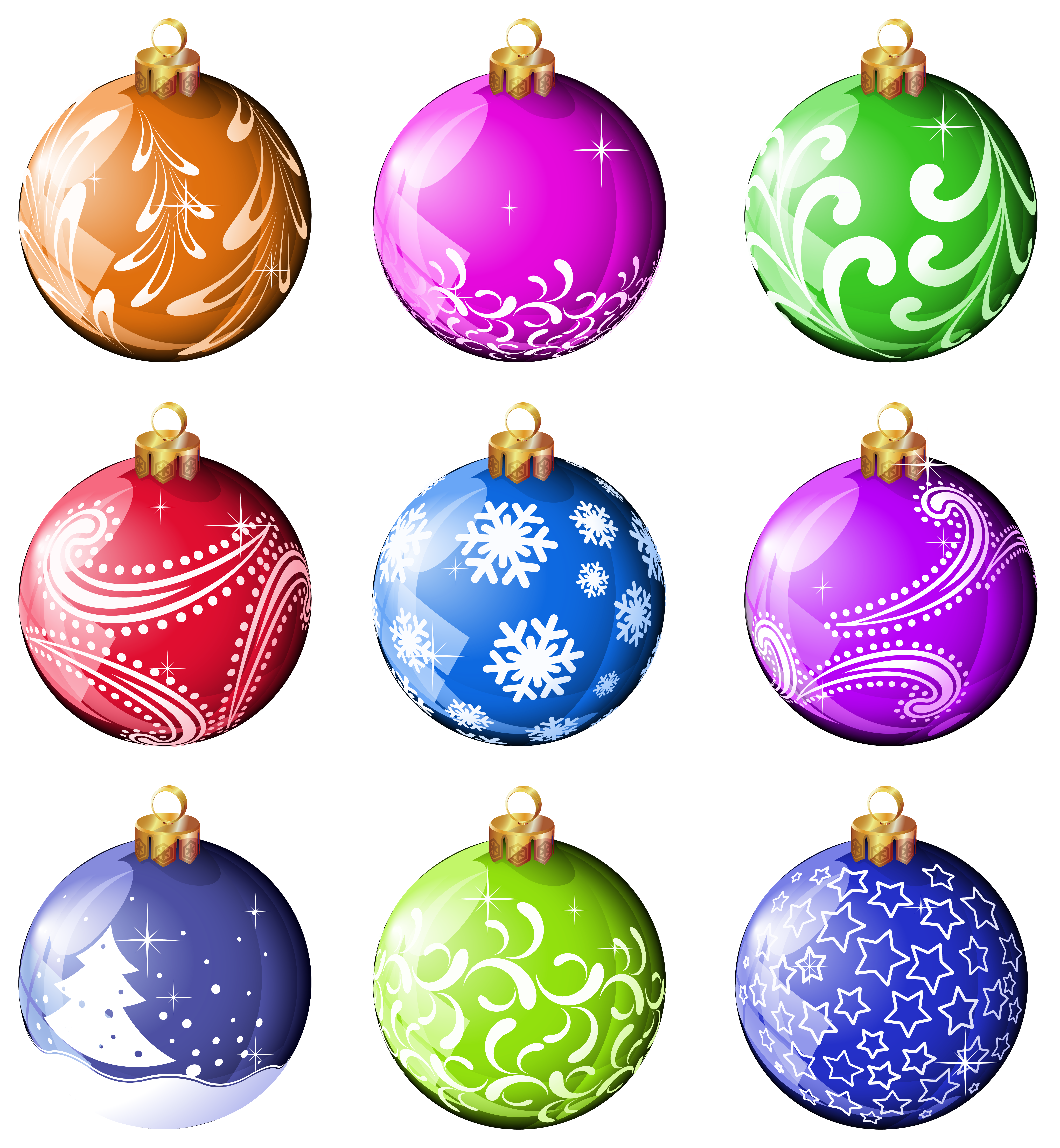 Christmas ornaments clipart png. Collection balls gallery view