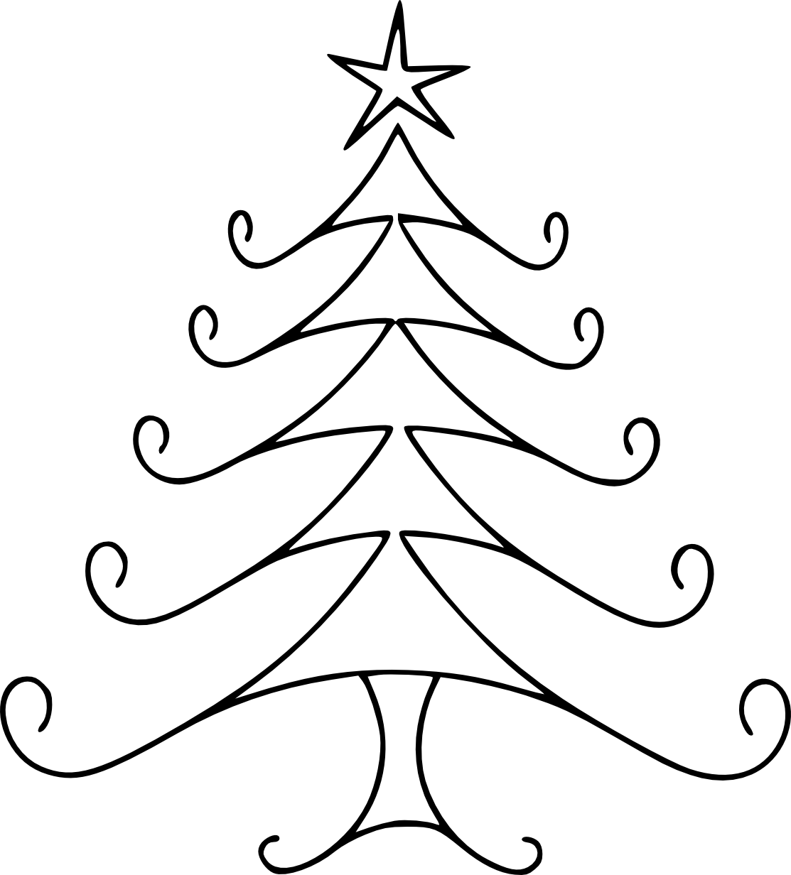 Copy drawing christmas. Line cliparts craft holidays