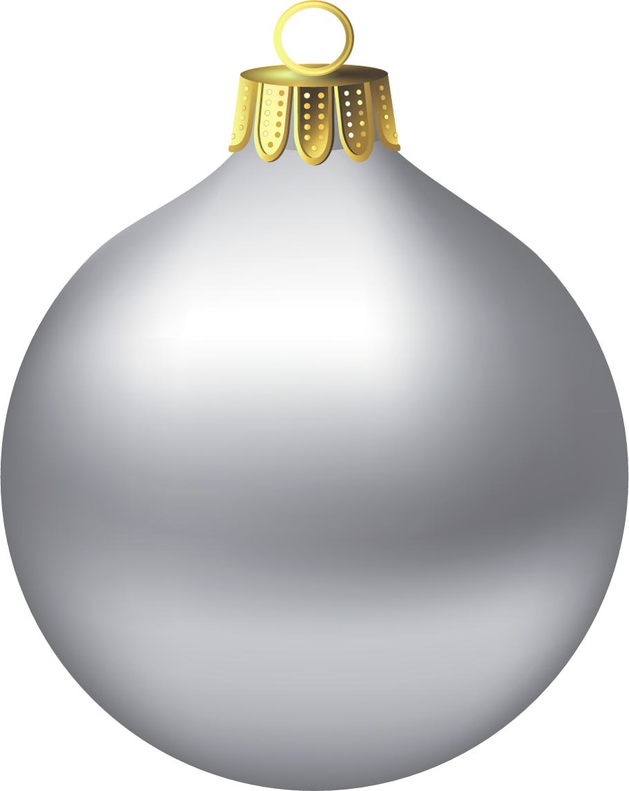 Christmas ornaments png blue and gray. Transparent silver ornament clipart