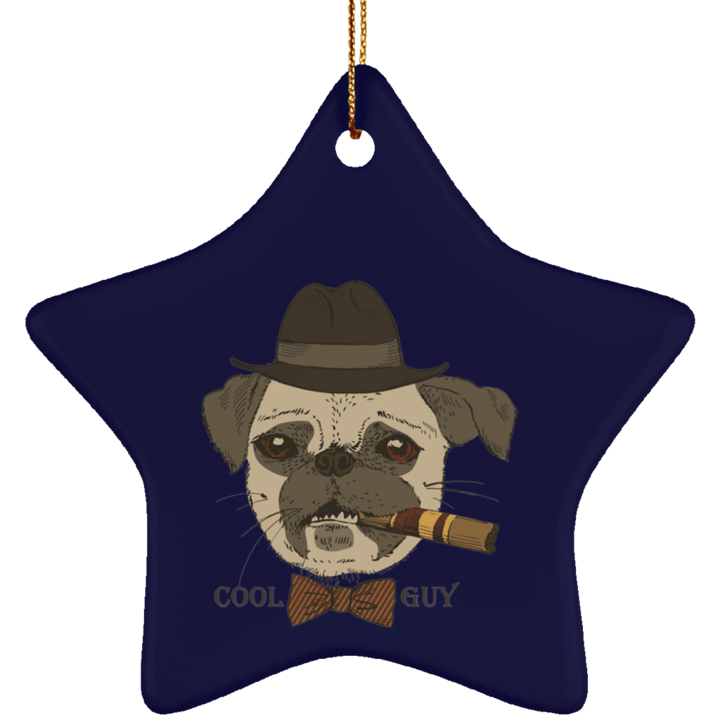 Christmas ornaments png blue and gray. Cool guy pug the
