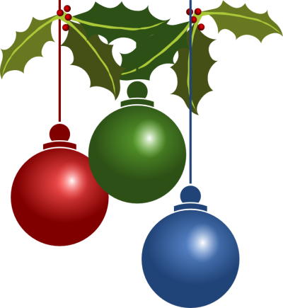 Christmas ornaments png transparent background. Mart