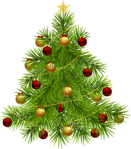 Christmas ornaments png transparent background. Tree with d