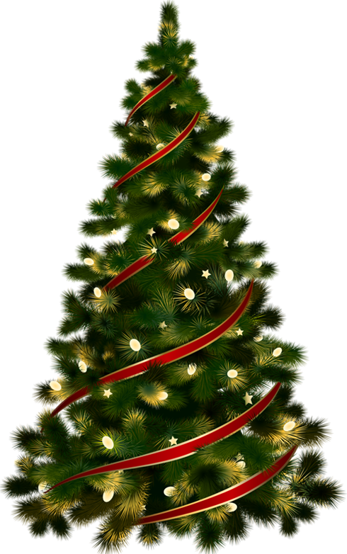 Christmas ornaments png transparent background. Large tree with red