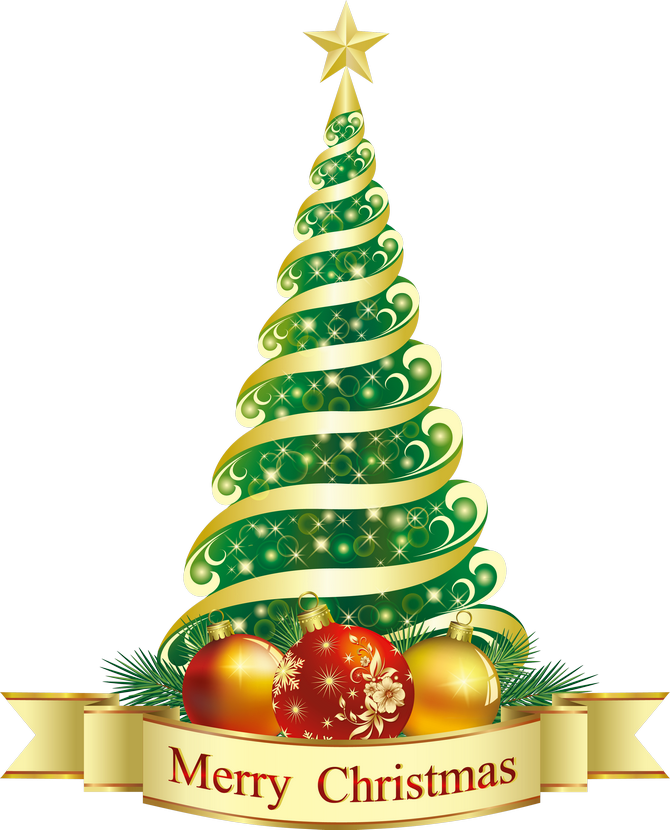 Christmas ornaments shadow png. Merry green tree clipart