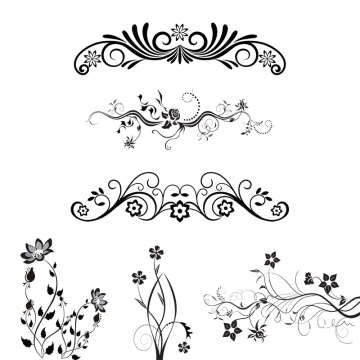 Vector flower design png. Floral ornaments images vectors