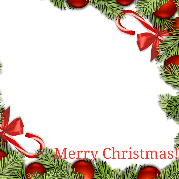 Christmas overlays png. Merry holly overlay