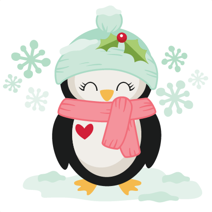 Penguin clipart winter. Christmas svg scrapbook cut