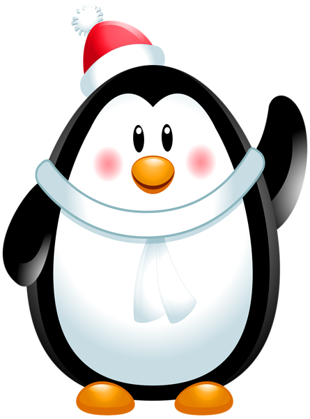 Christmas penguin png. Clip art image gallery