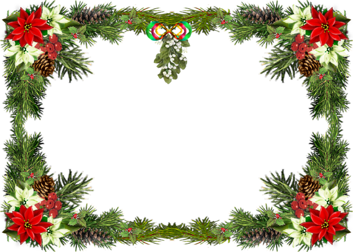 Christmas photo border png. Free printable clip art