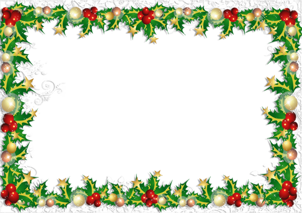 Christmas photo frame png. Transparent design and printable