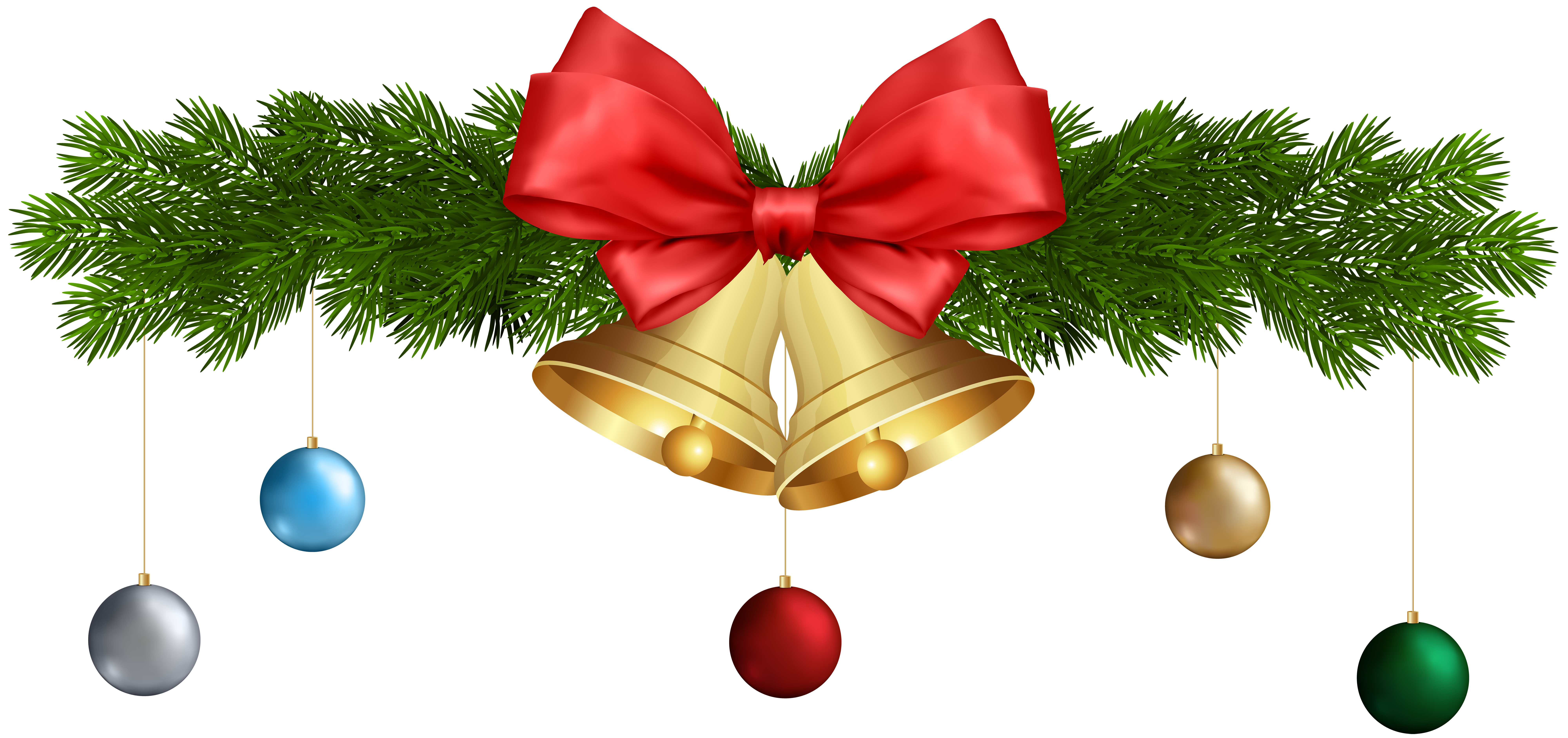 Christmas photo ornaments png. Bell clipart free christmastree
