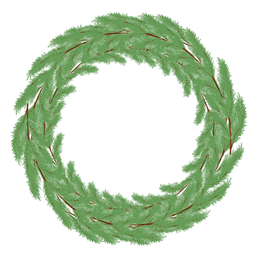 Christmas pine garland icon png. Wreath transparent svg vector