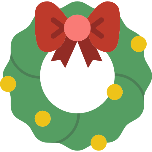 Christmas pine garland icon png. Wreath free icons