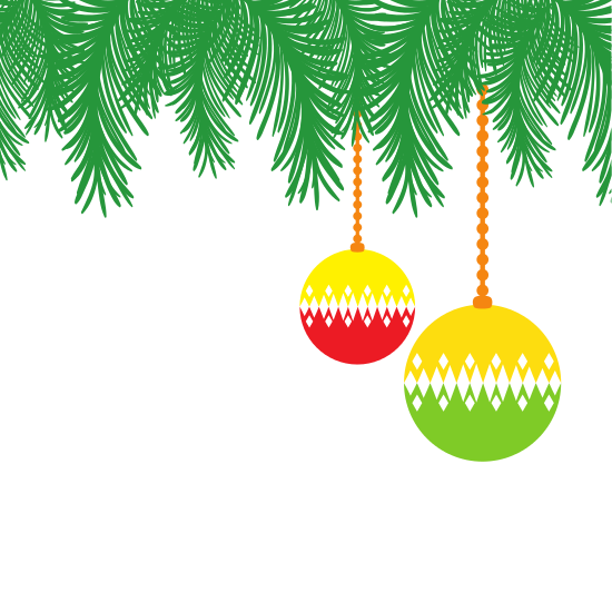 Christmas pine garland icon png. Full color with circle