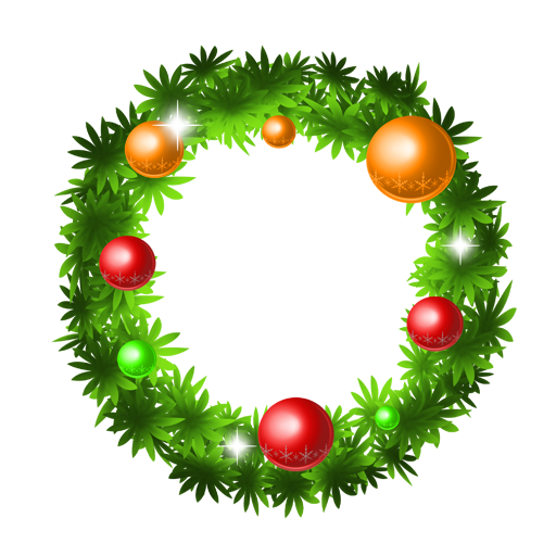Christmas pine garland icon png. Holly wreath image royalty