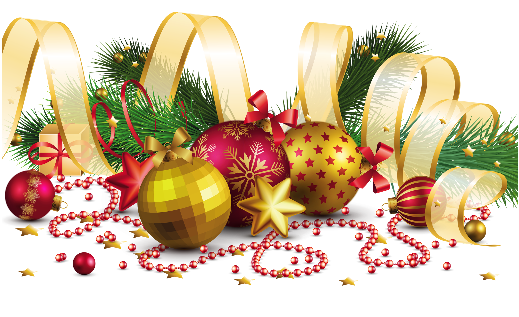 Ornaments christmas png. Transparent decoration with gold