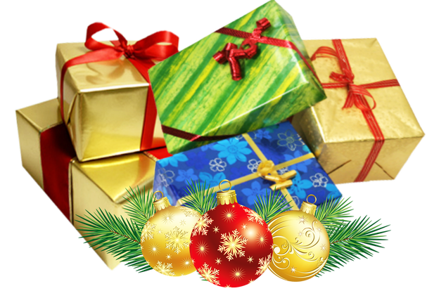 Christmas presents png. Present group transparent background
