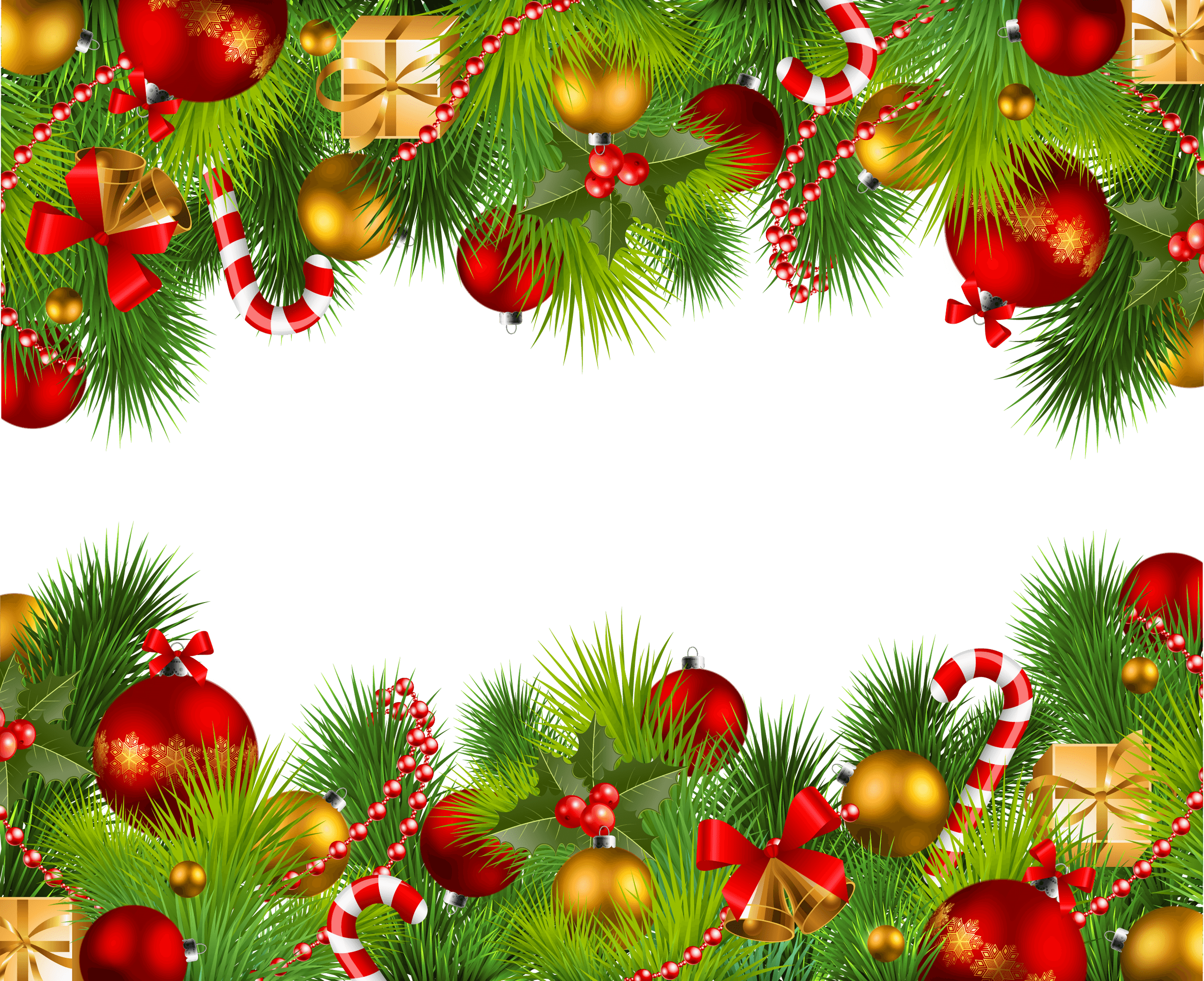 Christmas png border. Double frame transparent stickpng