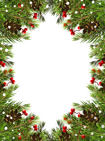 Christmas Garland Border Transparent Png Clipart Free Download