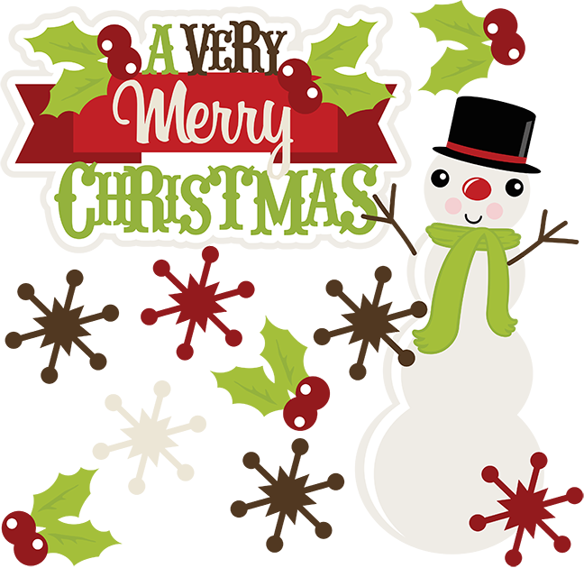 Merry christmas clipart cute. Png images free download