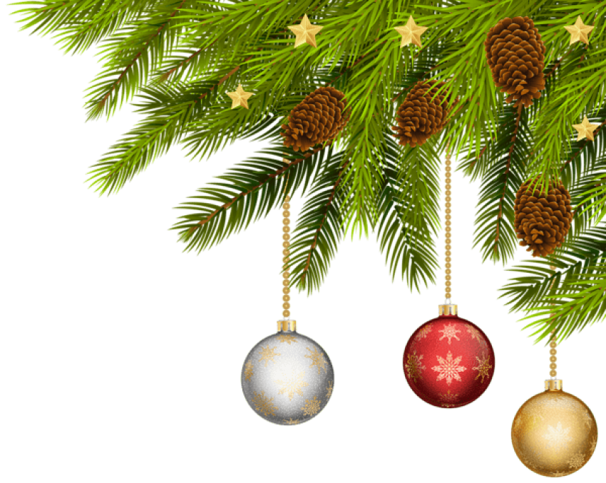 Christmas png corner. Balls free images toppng