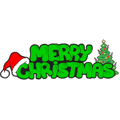 Grinch png merry christmas. Green text transparent stickpng