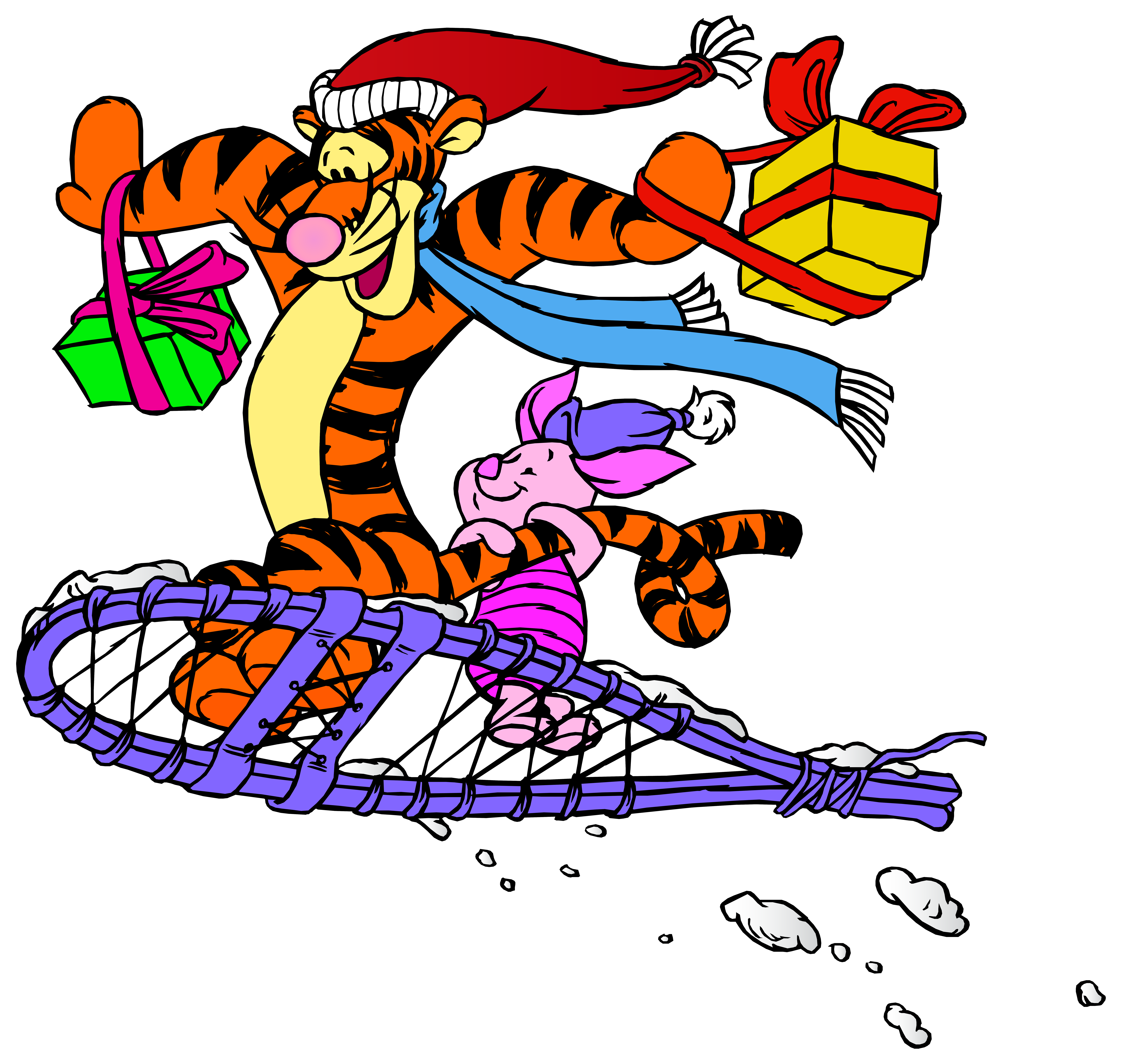 Christmas png images. Tigger and piglet clip