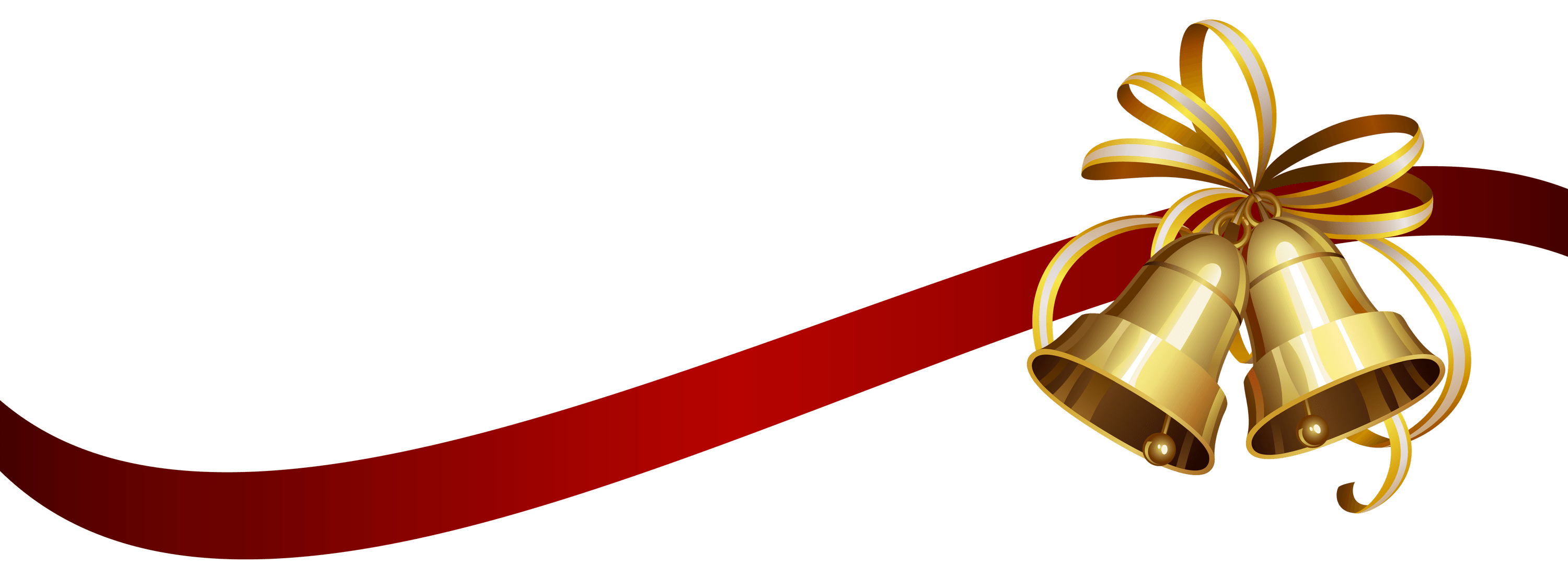 Christmas png transparent. Ribbon and bells stickpng