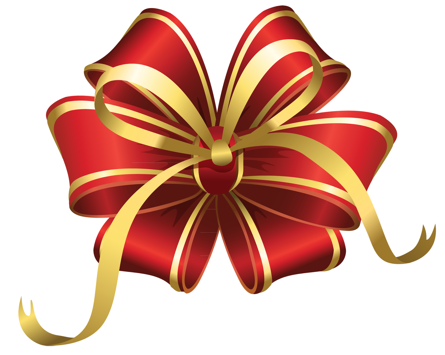 Christmas present bow png. Big set of red