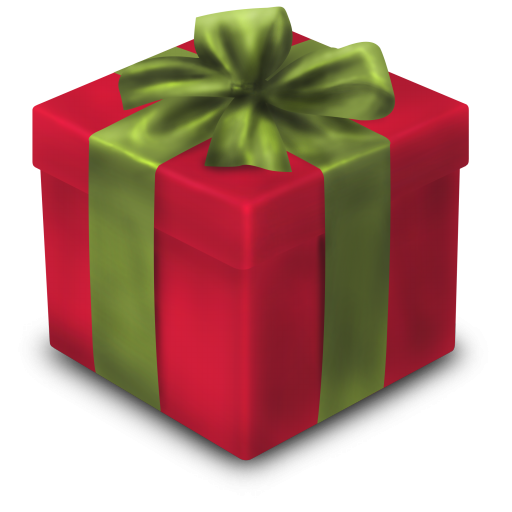 Christmas present box png. D gift red